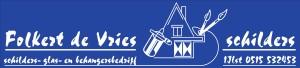 Schildersbedrijf Folkert de vries logo Blauw RJV-3_000001
