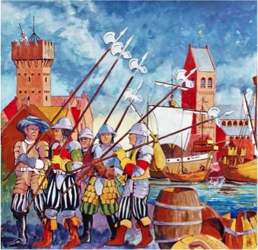 Voorbeeld van een schilderij zoals dat op een paneel kan worden opgenomen.